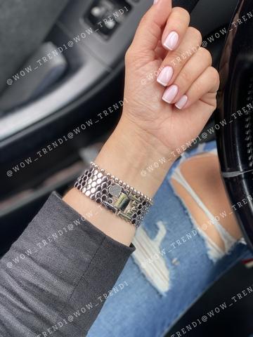 Ремешок Apple watch 42mm Honeycombs metall /silver/
