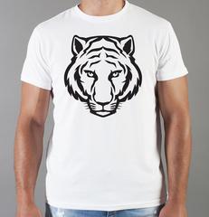 Футболка с принтом Тигр (Tiger) белая 0033