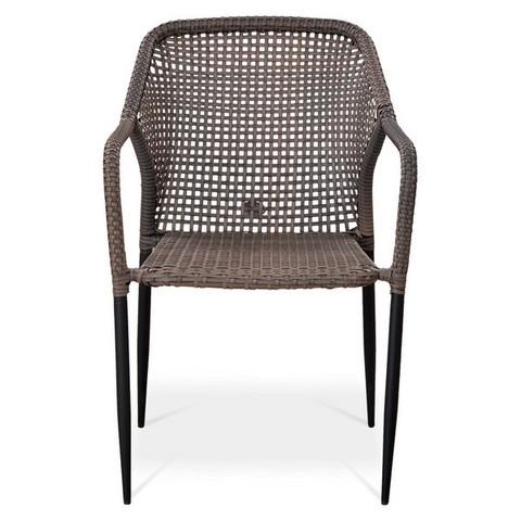 Плетеный стул из искусственного ротанга Y35G-W1289 Pale