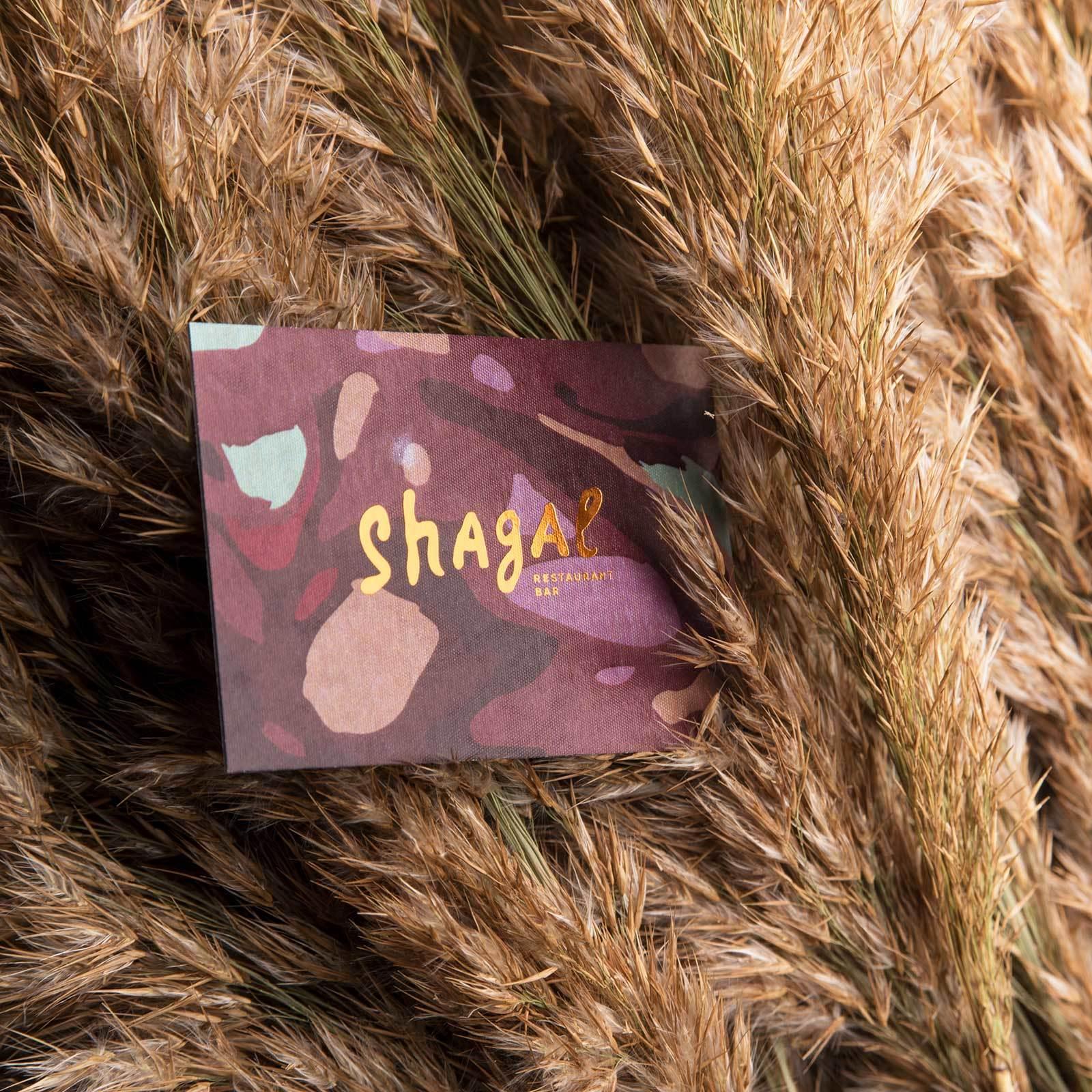 Комплексная работа по полиграфии проекта - Ресторан Shagal