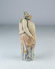 Скульптура из шамотной глины «Купалье», 8х20см, Falco Ceramic