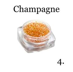 Хрустальная крошка(мелкая) шампань 4