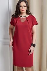 Платье Инесса бордовый