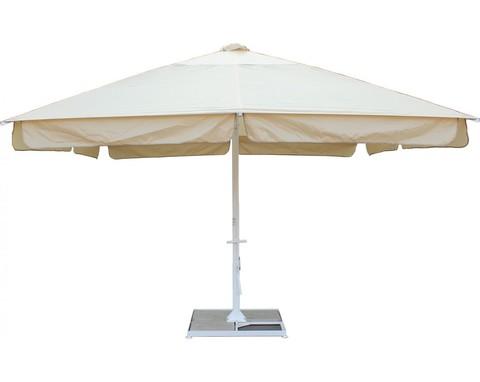 Зонт 4,0х4.0 м с воланом (телескопический, стальной каркас с подставкой, тент OXF 300D) Порошковая краска
