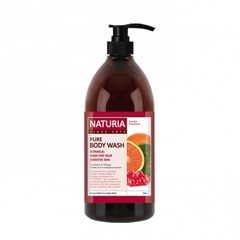NATURIA Гель для душа Клюква/Апельсин Pure body wash Cranberry & Orange 750 мл