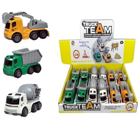 Инерционная машинка (в ассортименте) TRUC TEAM № 3, 1кор*36бл*12шт
