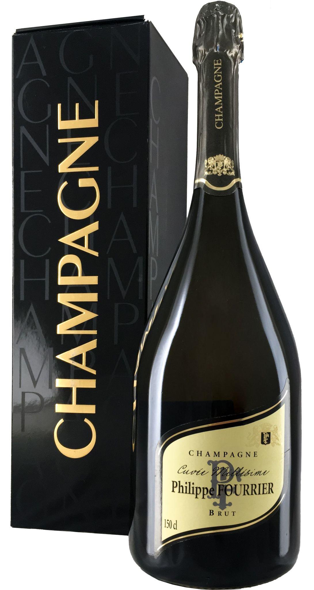 Шампанское Филипп Фурье Миллезим 2013 брют белое з.н.м.п регион Шампань 1,5л. П/У