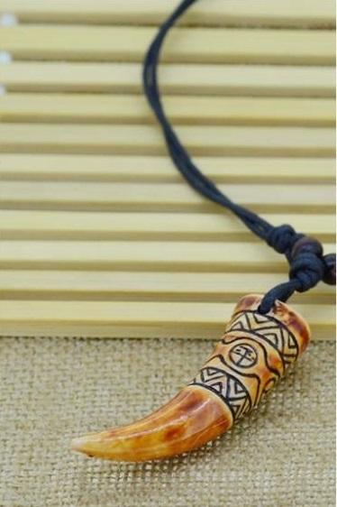 Totem Pendant talismans bone carving