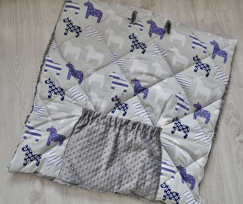 Одеяло - конверт - трансформер на выписку Лошадки