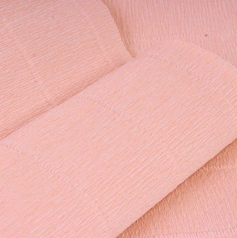 Бумага гофрированная, цвет 17А/2 розовая пудра, 180г, 50х250 см, Cartotecnica Rossi (Италия)