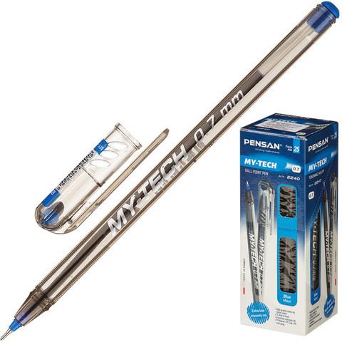 Ручка шариковая одноразовая Pensan My Tech синяя (толщина линии 0.7 мм)