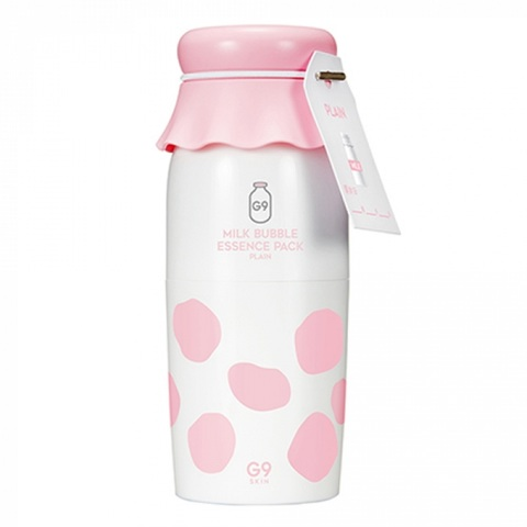 G9Skin Milk Bubble Essence Pack Plain пузырьковая маска-эссенция с молочными протеинами