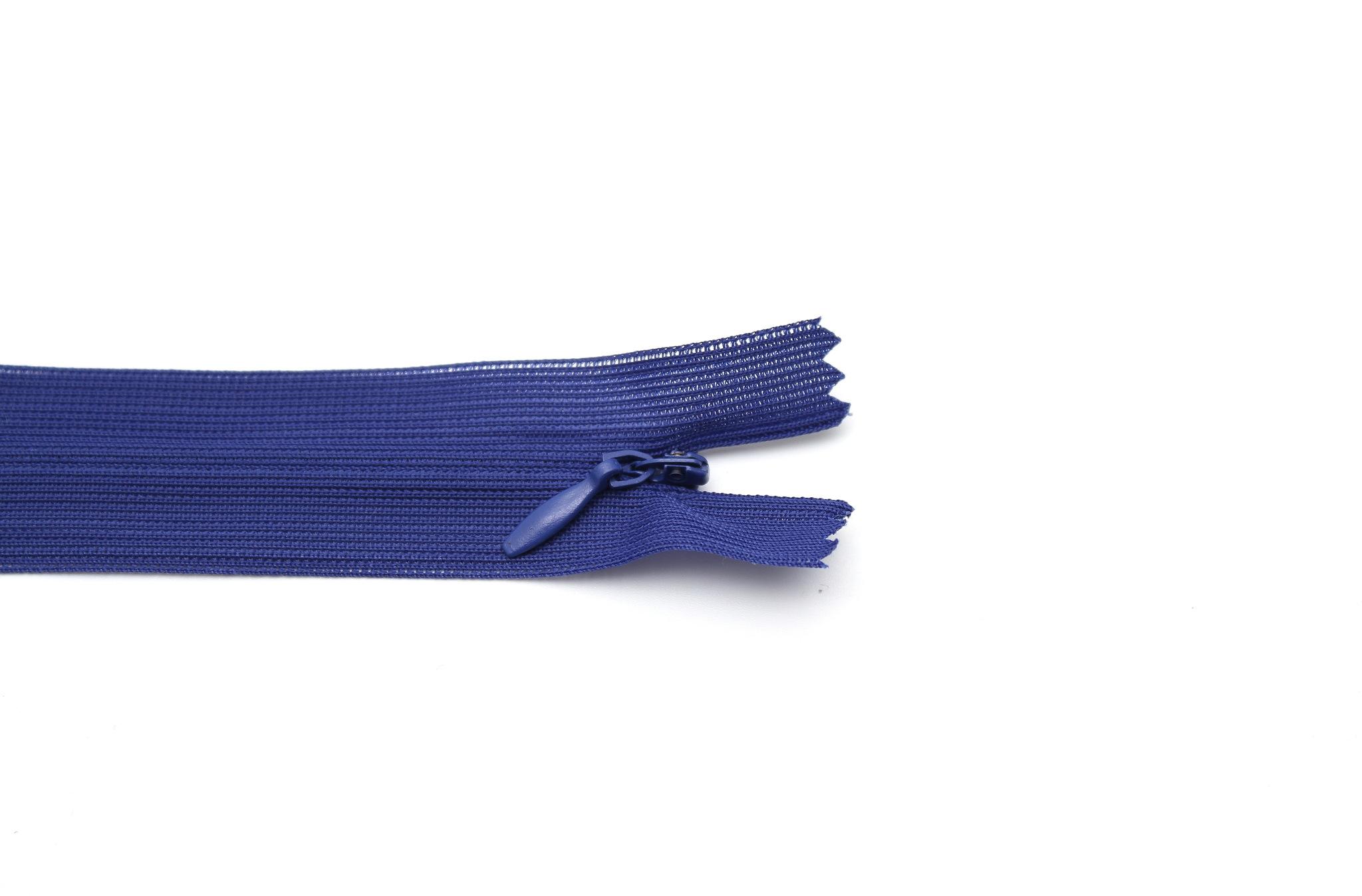 Потайная молния,50см(синяя)
