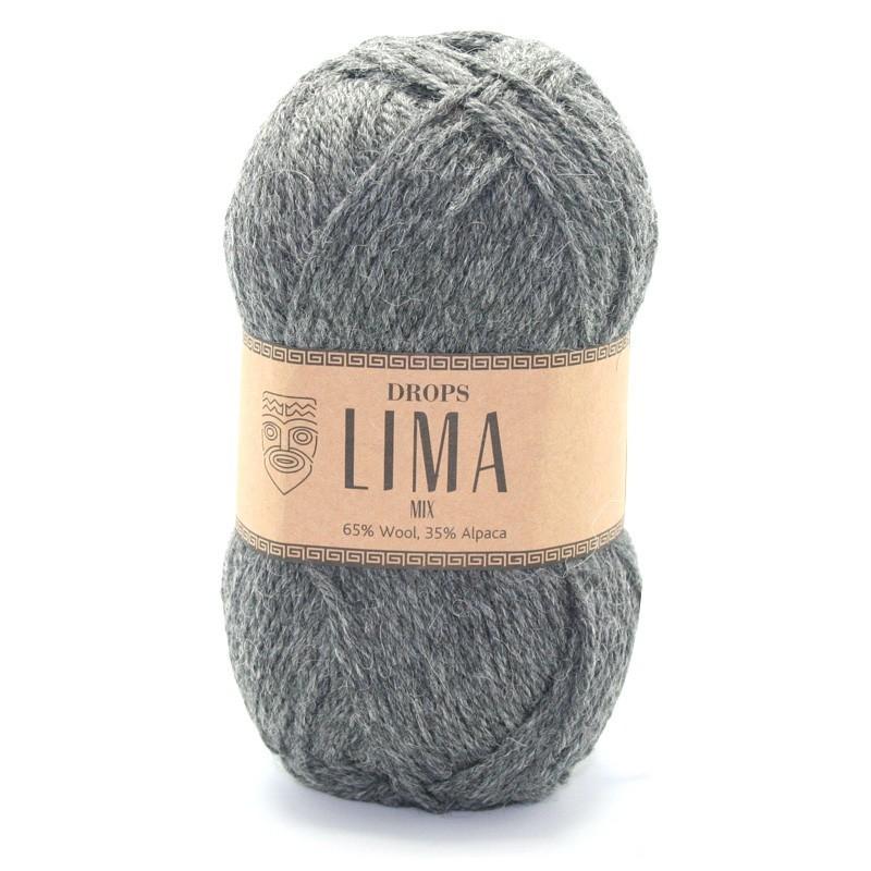 Пряжа Drops Lima 0519 серый меланж