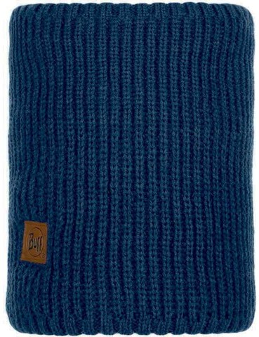 Шарф-труба вязаный с флисом Buff Neckwarmer Knitted Polar Rutger Medieval Blue фото 1