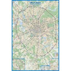 Настенная авто карта Москвы 1600x1070 мм