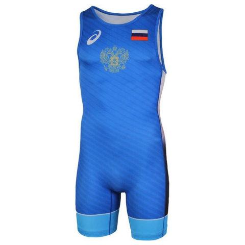 Трико борцовское мужское ASICS 2081 синее