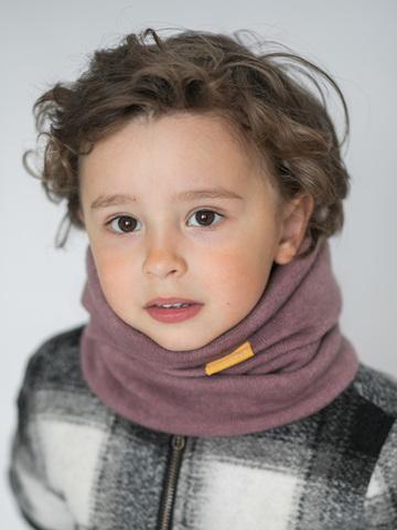 Детский снуд-горловинка из турецкой шерсти лавандово-ягодный