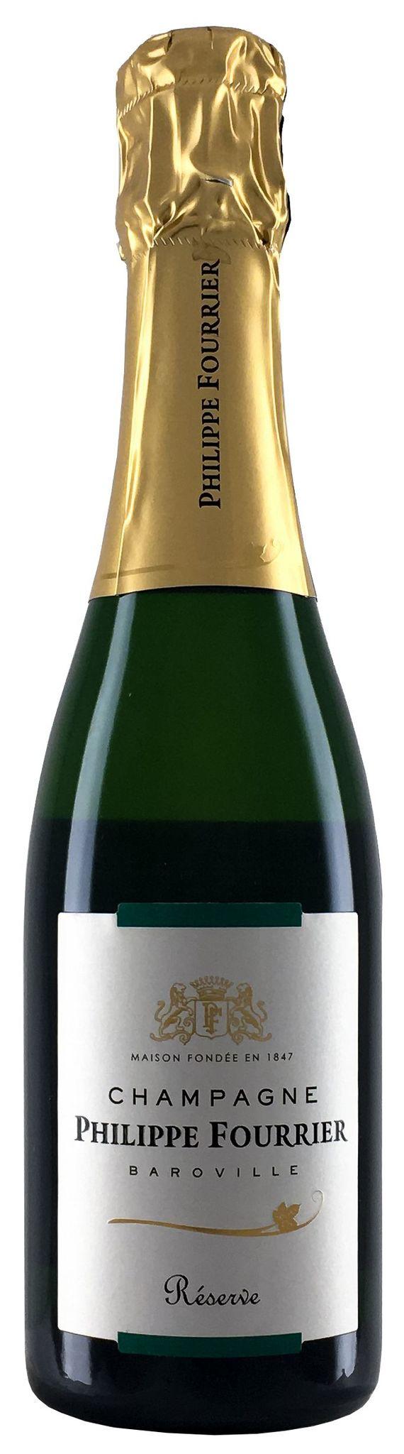 Шампанское Филипп Фурье Резерв брют белое з.н.м.п регион Шампань 0,375л.