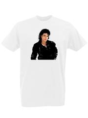 Футболка с принтом Майкл Джексон (Michael Jackson) белая 0001