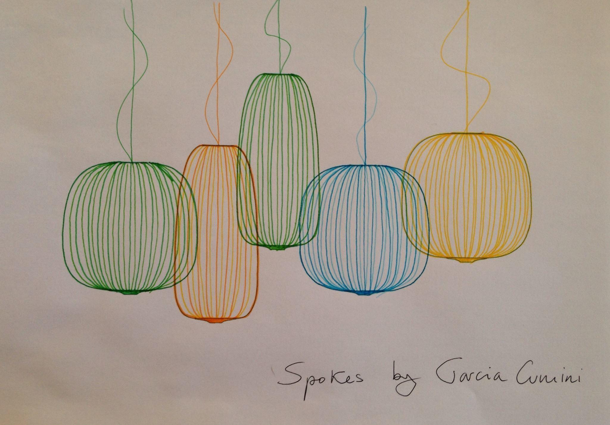 Подвесной светильник копия Spokes 1 by Foscarini (желтый)