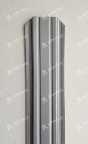 Евроштакетник металлический 85 мм RAL 9006 П - образный 0.5 мм