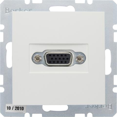 Розетка VGA (подключение к кабелю). Цвет Полярная белизна. Berker (Беркер). S.1. 3315418989