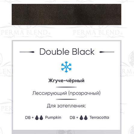 """DOUBLE BLACK""  пигмент для глаз. Permablend"