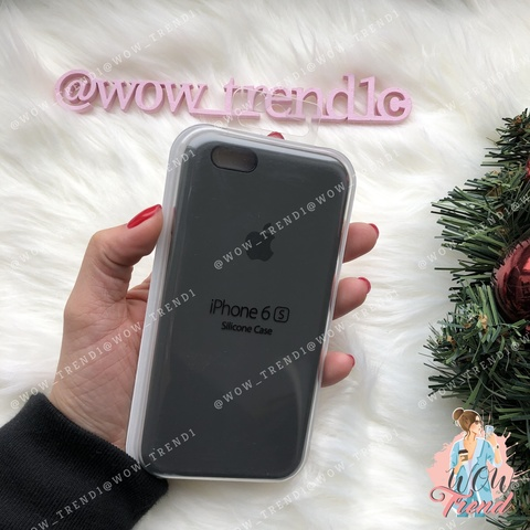 Чехол iPhone 6+/6s+ Silicone Case /dark olive/ темная оливка 1:1