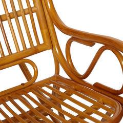 Кресло-качалка Виена (Vienna)  (разборная) / без подушки / ротанг top quality, Cognac (коньяк)