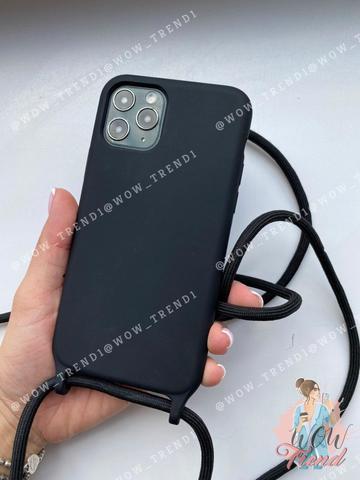Чехол iPhone 7/8 Plus Silicone Case crossbody bag /black/