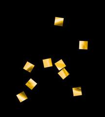Конфетти металлизированное, Квадрат, Золото, 6*6мм / 100г. /
