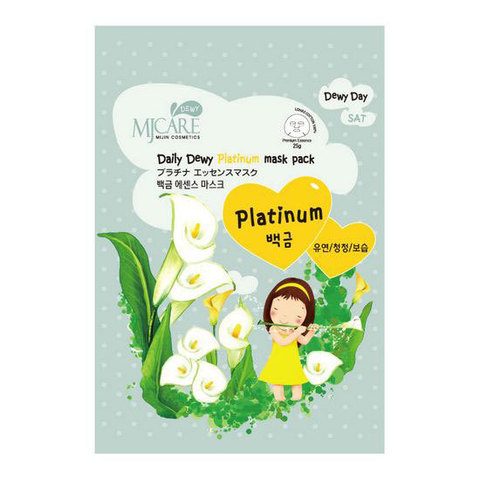 MIJIN Daily Dewy Маска тканевая с платиной MJ Care Daily Dewy Platinum Mask Pack