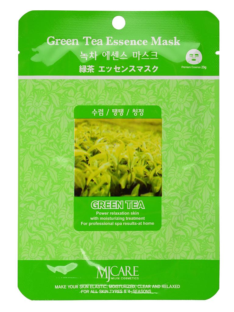 Тканевые Маска тканевая для лица зеленый чай Green Tea Essence Mask МЖ5.jpg