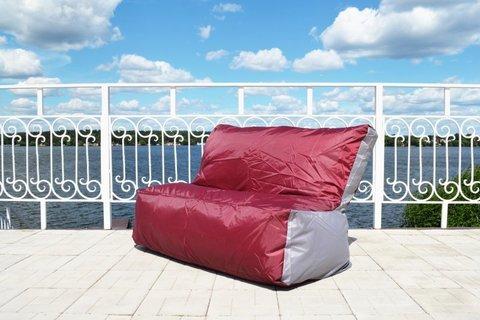 Кресло-мешок «Диван» Бордово-серый