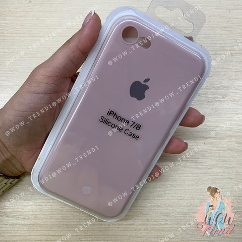 Чехол iPhone 7/8 Silicone Slim Case /pink sand/