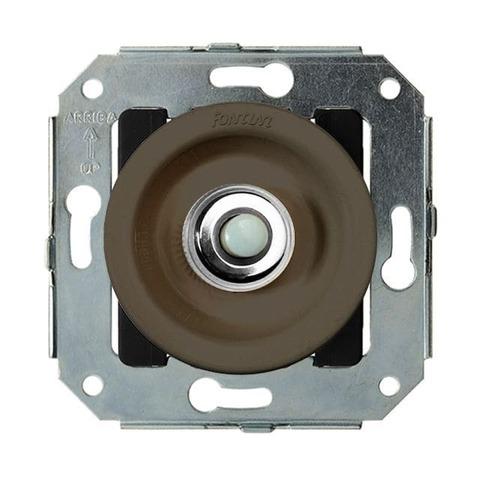 Выключатель/кнопка нажимной 10А 250В~. Цвет Chrome/Brown. Fontini Venezia(Фонтини Венезия). 35310582