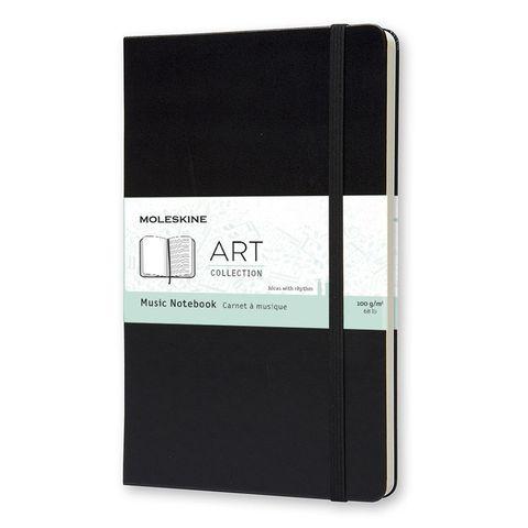 Блокнот Moleskine ART MUSIC NOTEBOOK ARTQP081 130х210мм PP 192 стр твердая обложка черный