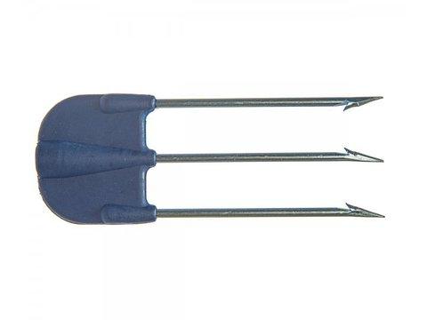 Трезубец сарган 013, пластиковое основание, зубцы гальваника, d4 мм
