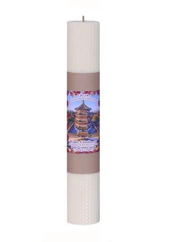 Свеча Императорский дворец белая 30см