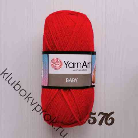 YARNART BABY 576, Красный
