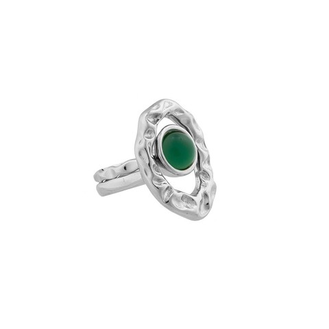 Кольцо двойное Green Agate 19 мм K7158.17/19.0 G/S