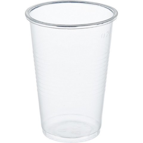 Стакан одноразовый Стандарт пластиковый прозрачный 200 мл 100 штук в упаковке