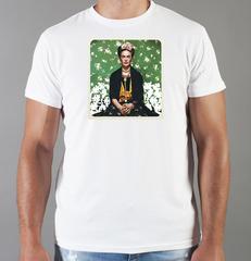 Футболка с принтом Фрида Кало (Frida Kahlo) белая 004