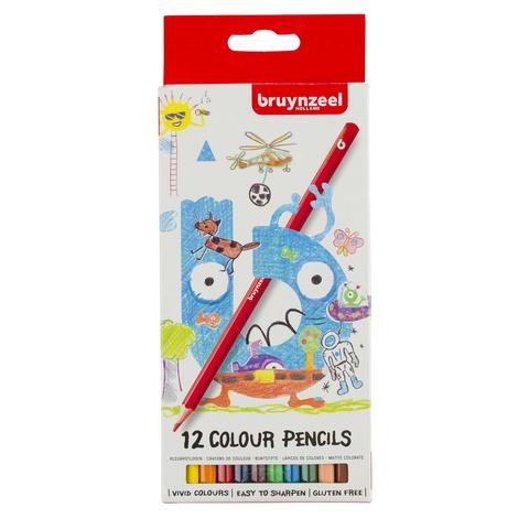 Набор цветных карандашей Bruynzeel Kids 12 цветов в картонной упаковке