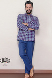 Домашний костюм с клетчатой рубашкой B&B