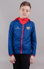 Детская беговая ветровка с капюшоном Nordski Run Patriot