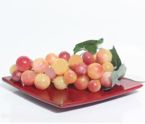 Виноград искусственный 12см, желто-красный