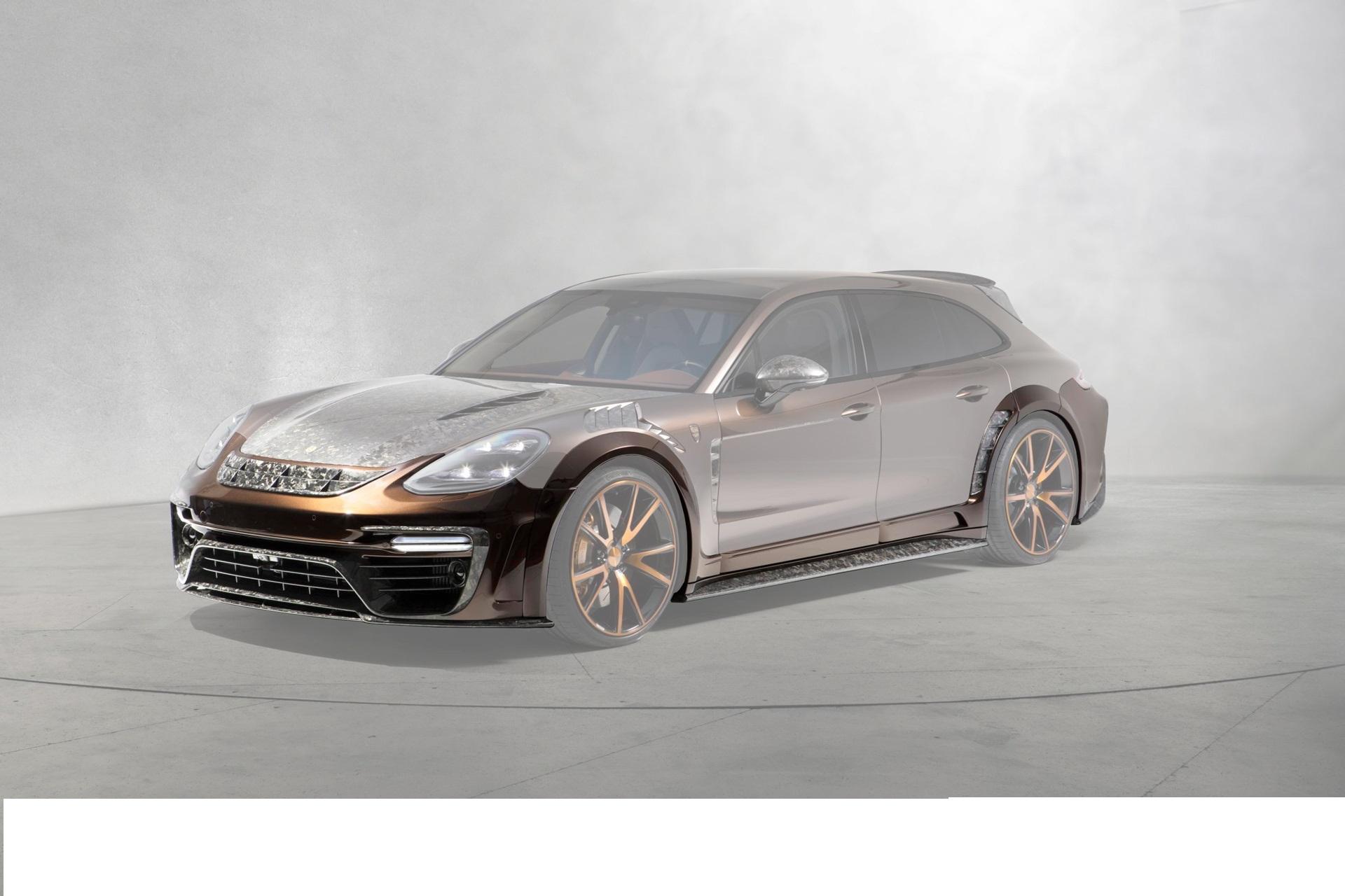 Карбоновый широкий обвес (без/с радаром) Mansory Style для Porsche Panamera