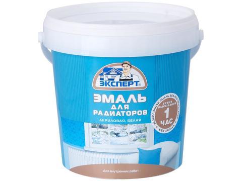 Эмаль Эксперт акриловая д/радиаторов белая (1кг)